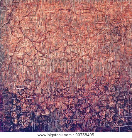 Beautiful vintage background. With different color patterns: brown; purple (violet); red (orange)