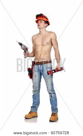 Handyman  With Drill
