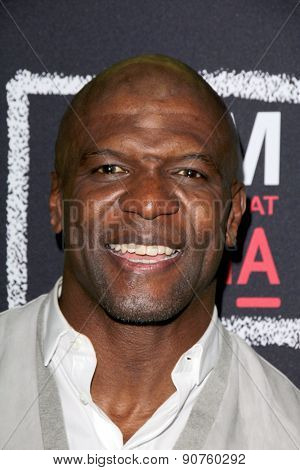 LOS ANGELES - MAY 7:  Terry Crews at the An Evening With Brooklyn Nine Nine at the Bing Theater at LACMA on May 7, 2015 in Los Angeles, CA