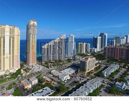 Aerial Miami Sunny Isles Beach