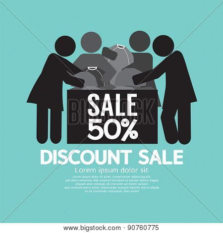 Discount Sale 50% Off Symbol.