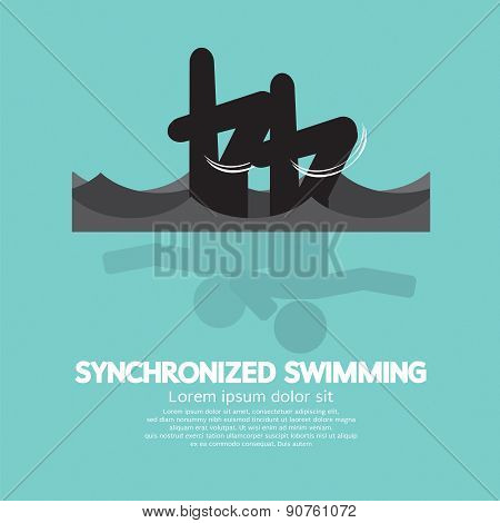 Synchronized Swimming Graphic Symbol.