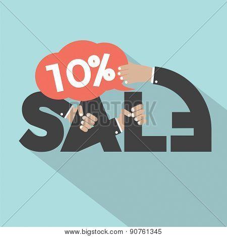 10 Percent Discount Typography Design.