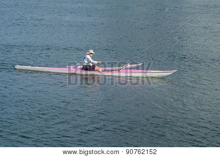 Outrigger Canoe Paddler