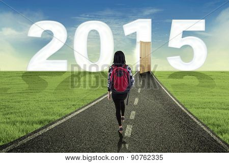 Student Walking To The Future