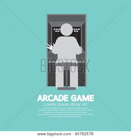 Arcade Machine Player Graphic Symbol.