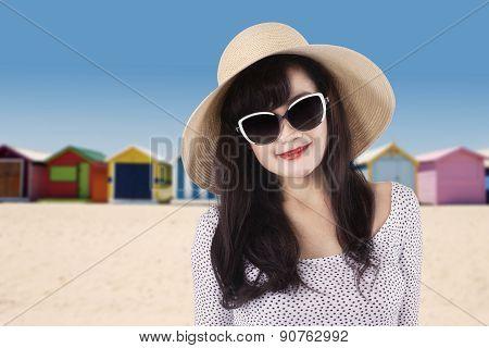 Traveller With Long Hair At Coast
