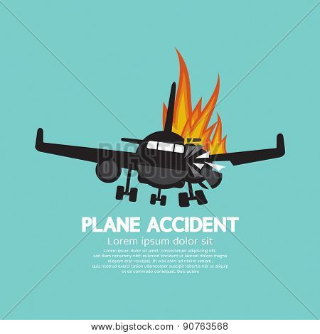 Doomed Plane Accident On Fire.