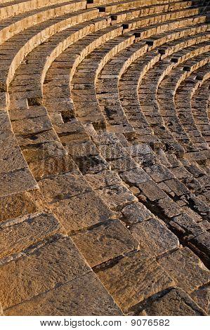 High Angle View Of A Roman Amphitheater, Kourion, Limassol, Cyprus