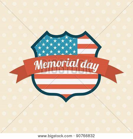 Memorial Day design over beige background vector illustration