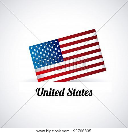 USA design over gray background vector illustration