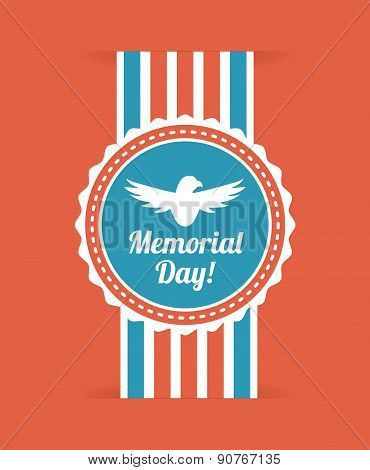 Memorial Day design over red background vector illustration