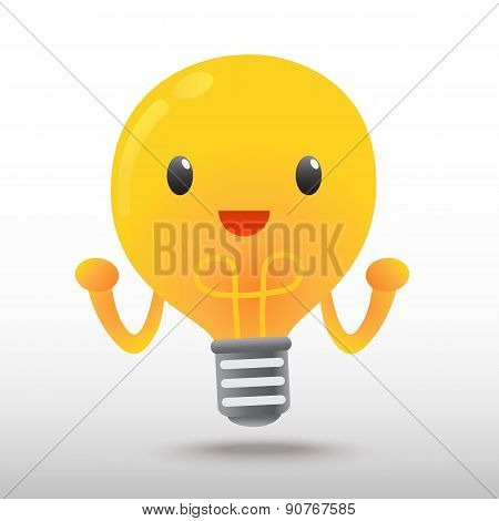 Light Bulb Cartoon character
