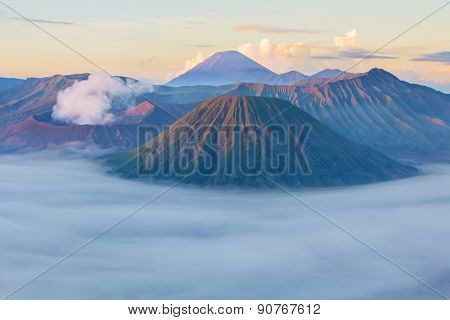 Bromo Mountain In East Java, Indonesia
