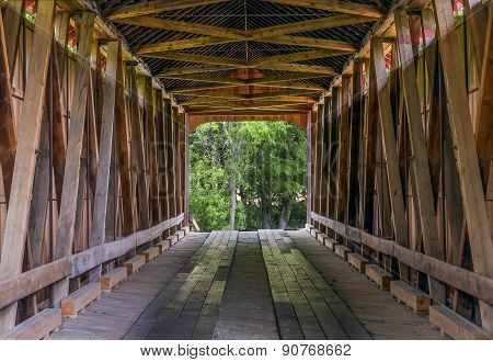 James Covered Bridge Interior