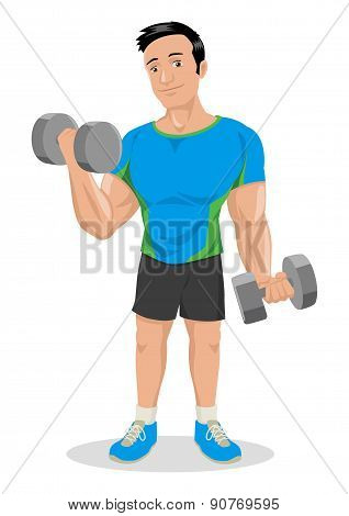 Fitness Cartoon