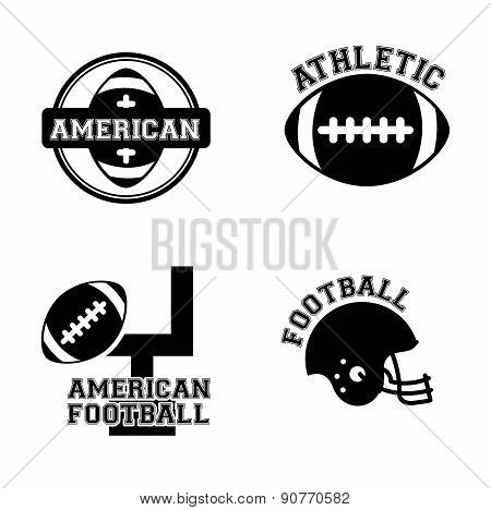 American football design over white background vector illustrati