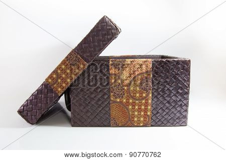 Weaved Box With Batik Decoration