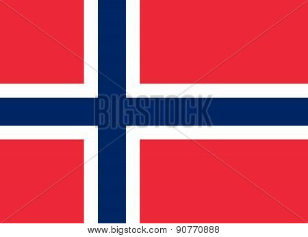The Official Flag Of The Kingdom Of Norway