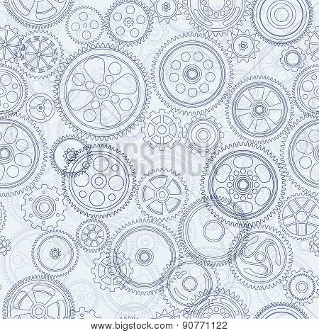 Cogs And Gears Seamless Background