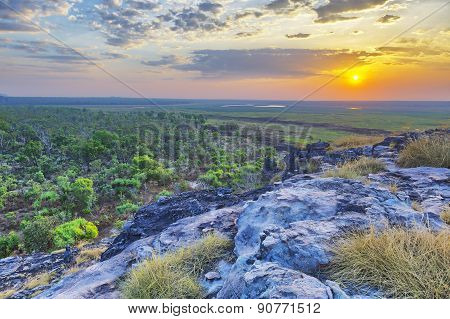 Sunset Over Ubirr