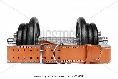 Dumbbell with belt