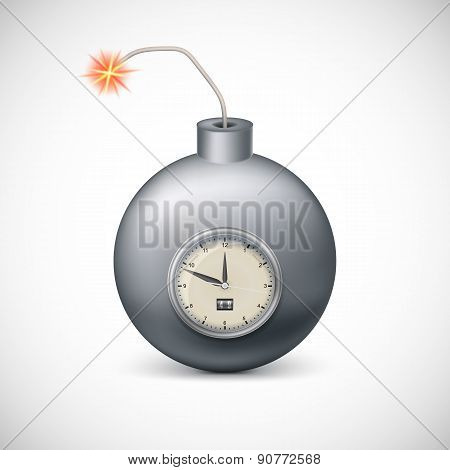 Dynamite with clock.