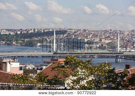 Metro bridge. Istanbul. Turkey.