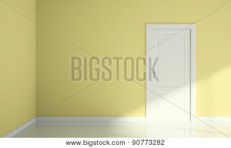 Door And Wall Corner Blank Room Interior Design