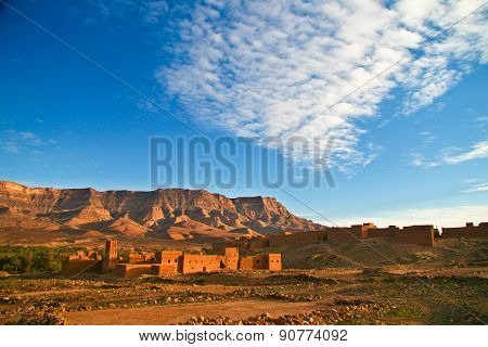 Ancient city of Tamnougalt in Morocco