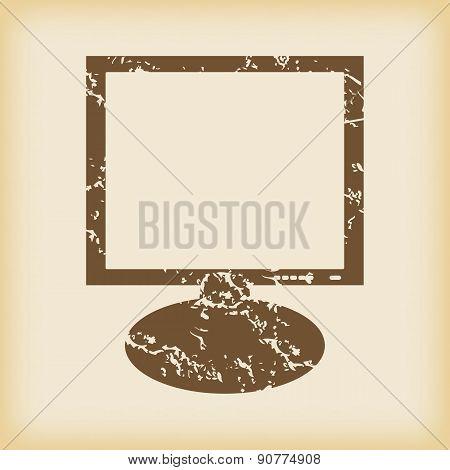 Grungy monitor icon