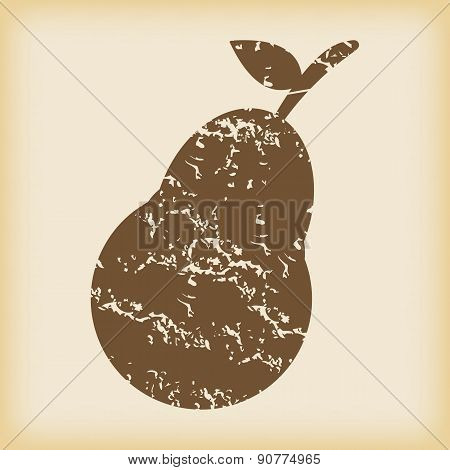 Grungy pear icon