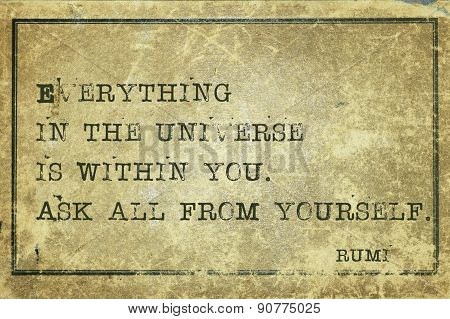 Ask Yourself Rumi