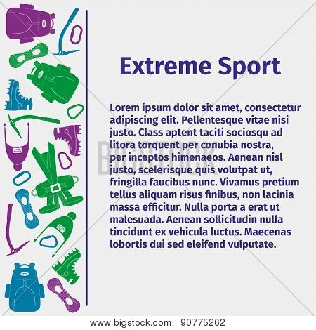 Advertising card for extreme sport