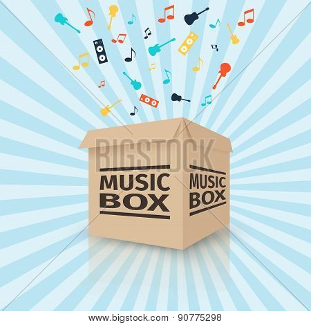 Cardboard music box