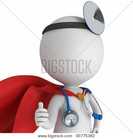 Doctor Showing Thumbs Up.