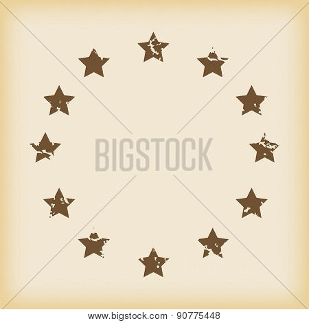 Grungy european union icon