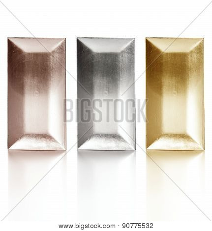 Three Metal Trays