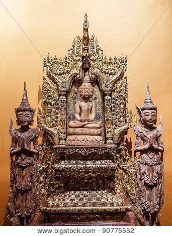 Buddha Carved Wood