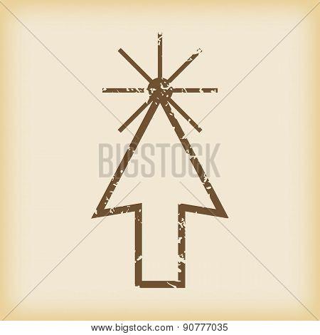 Grungy arrow cursor icon