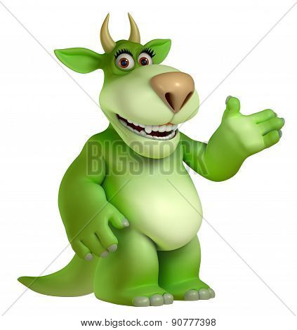 Green Cartoon Halloween FreakToy 3D