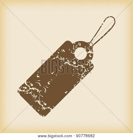 Grungy string tag icon