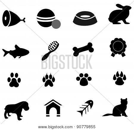 pet icons black