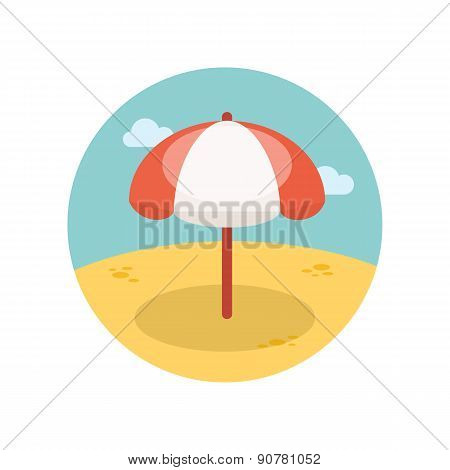 Beach Parasol Flat Icon