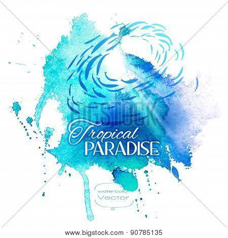 Watercolor Blue Texture