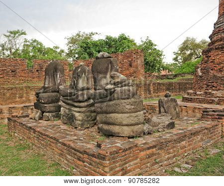 Buddha ancient  at Ayutthaya, Thailand