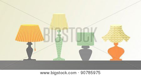 The Set Of Lamps
