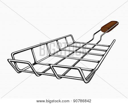 Illustration of painted grill for a barbecue.