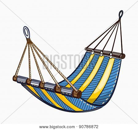 Illustration of painted hammock.