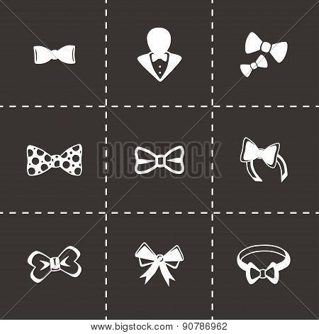 Vector Bow ties icon set